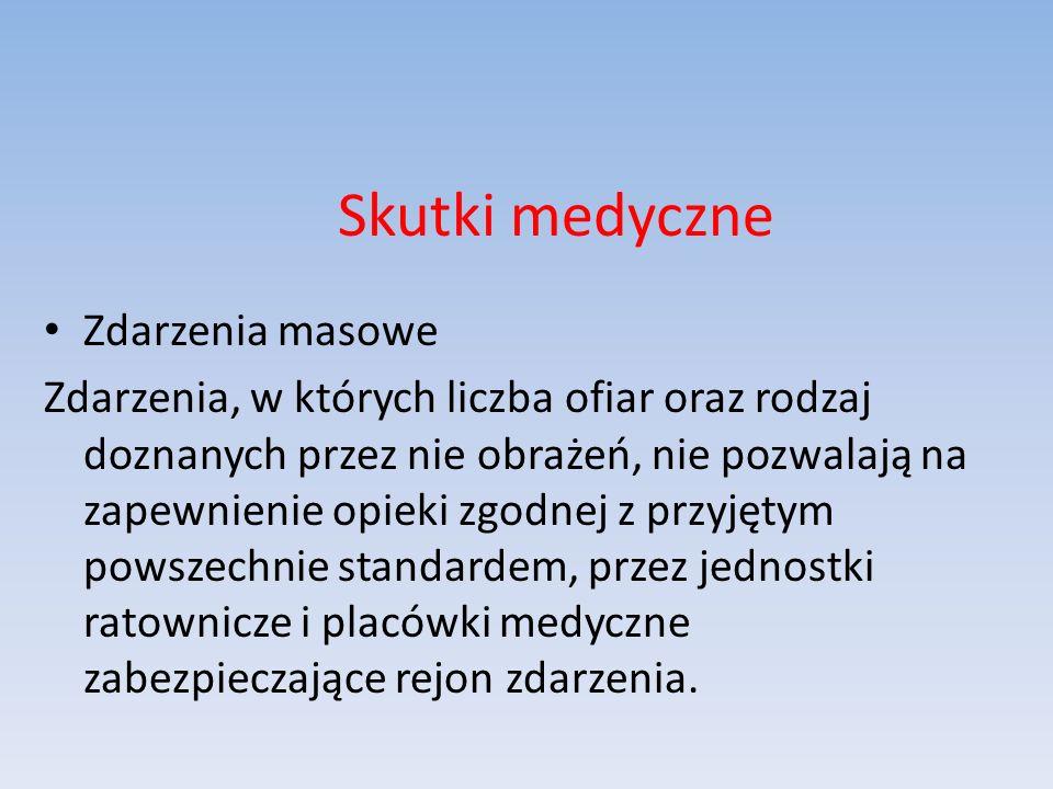 Skutki medyczne Zdarzenia masowe