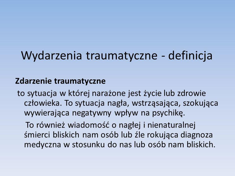 Wydarzenia traumatyczne - definicja