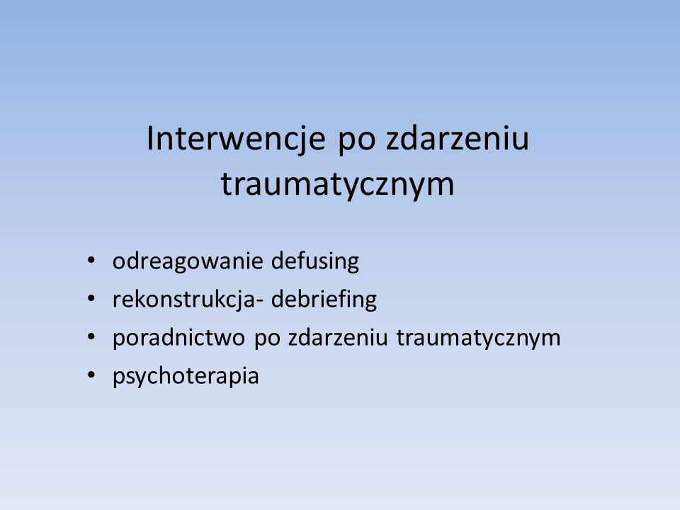 Interwencje po zdarzeniu traumatycznym
