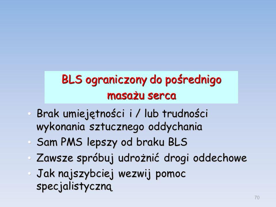 BLS ograniczony do pośrednigo masażu serca