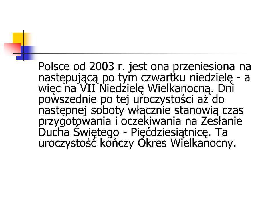 Polsce od 2003 r.