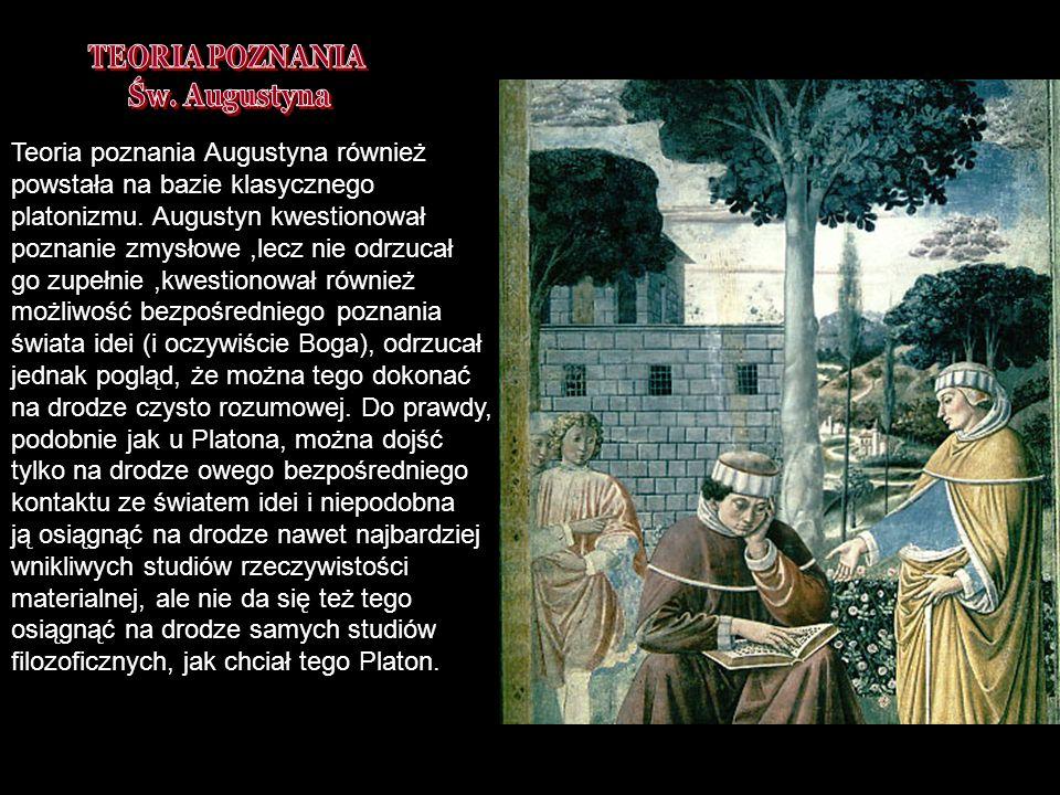TEORIA POZNANIA Św. Augustyna