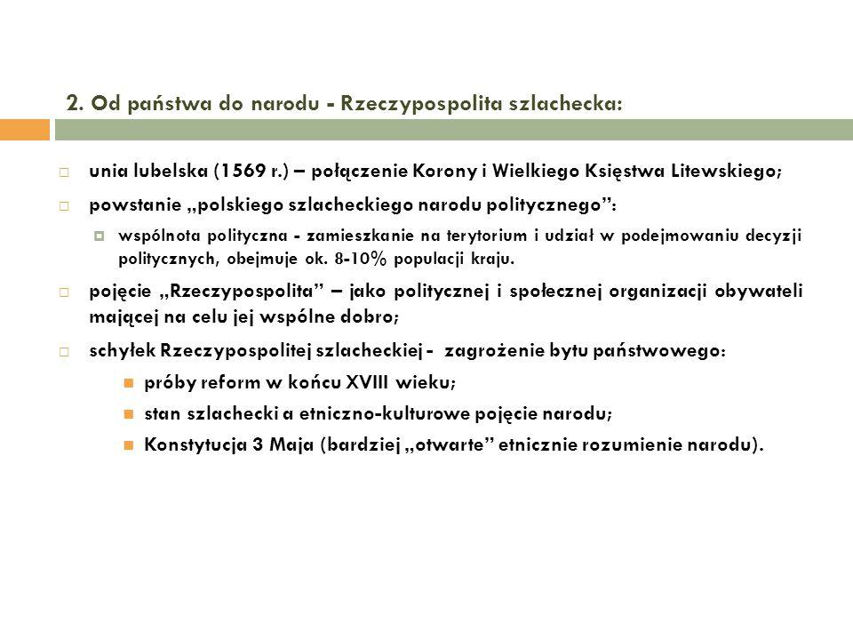 2. Od państwa do narodu - Rzeczypospolita szlachecka: