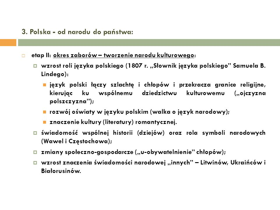 3. Polska - od narodu do państwa:
