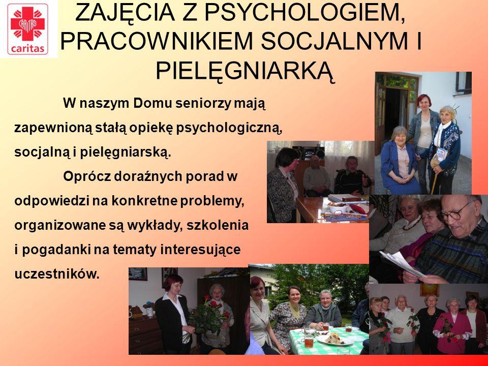 ZAJĘCIA Z PSYCHOLOGIEM, PRACOWNIKIEM SOCJALNYM I PIELĘGNIARKĄ