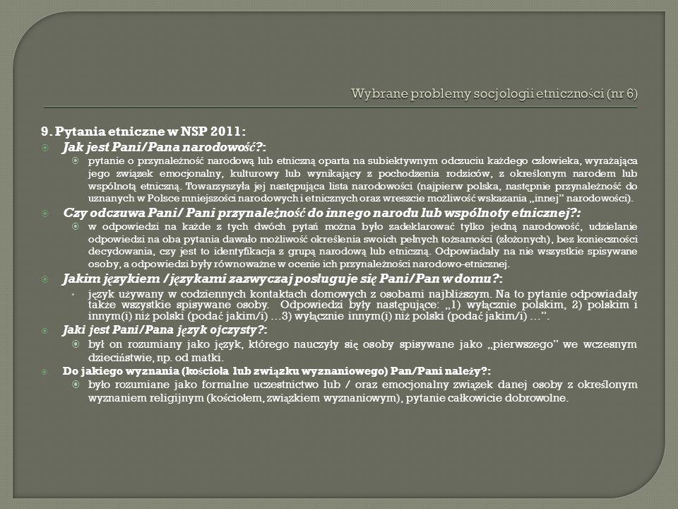 Wybrane problemy socjologii etniczności (nr 6)