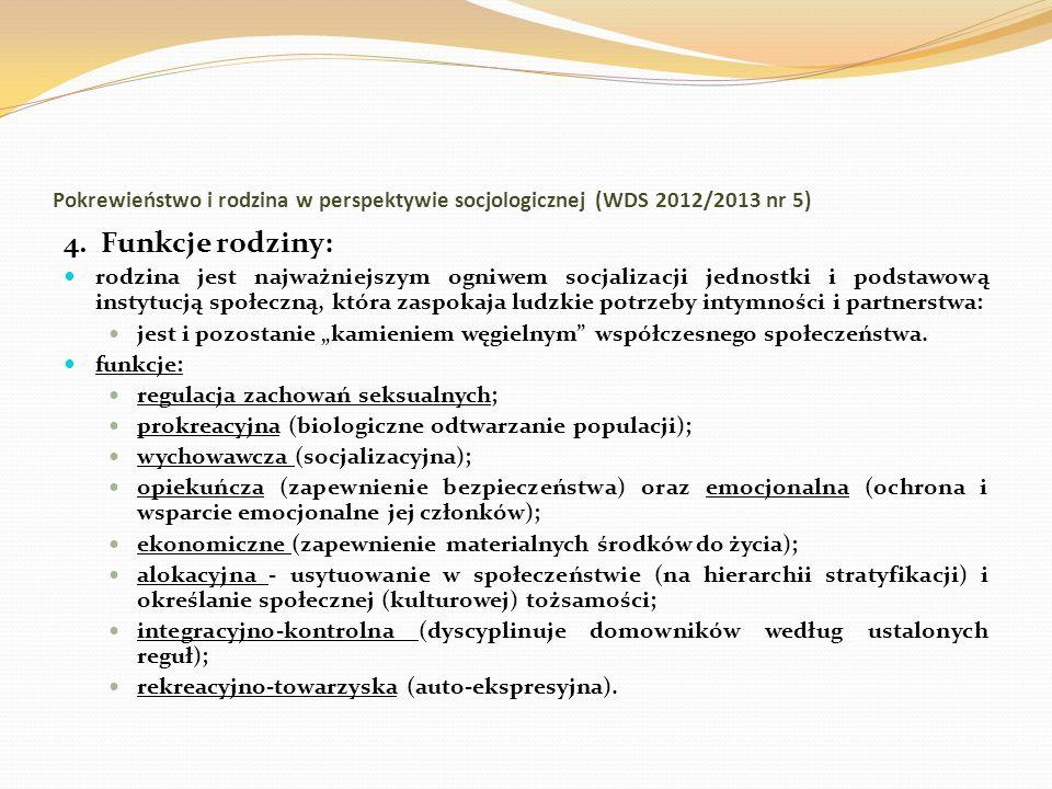 Pokrewieństwo i rodzina w perspektywie socjologicznej (WDS 2012/2013 nr 5)