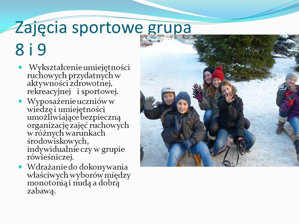 Zajęcia sportowe grupa 8 i 9