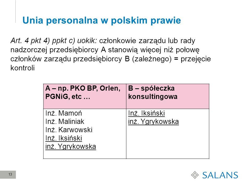 Unia personalna w polskim prawie