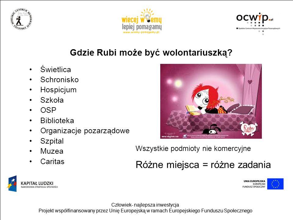 Gdzie Rubi może być wolontariuszką