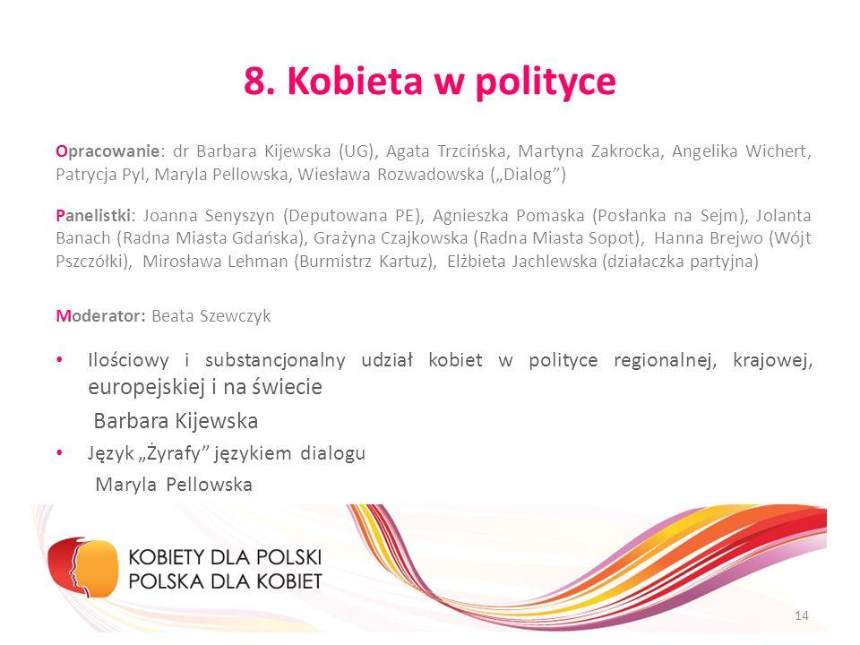 8. Kobieta w polityce Barbara Kijewska
