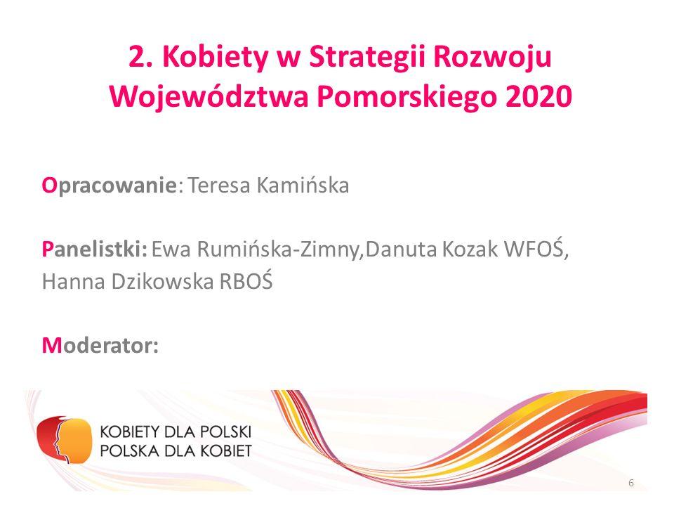 2. Kobiety w Strategii Rozwoju Województwa Pomorskiego 2020