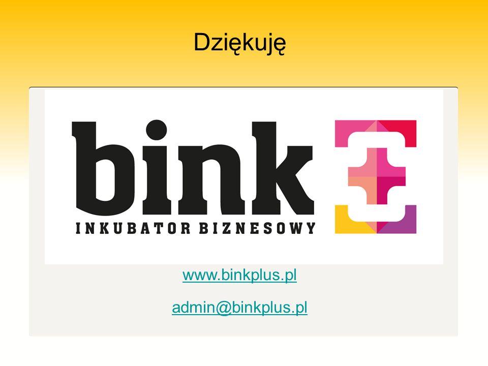 Dziękuję www.binkplus.pl admin@binkplus.pl