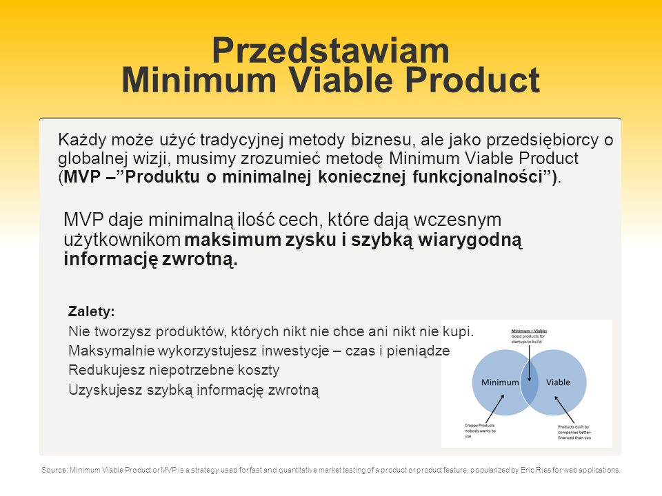 Przedstawiam Minimum Viable Product