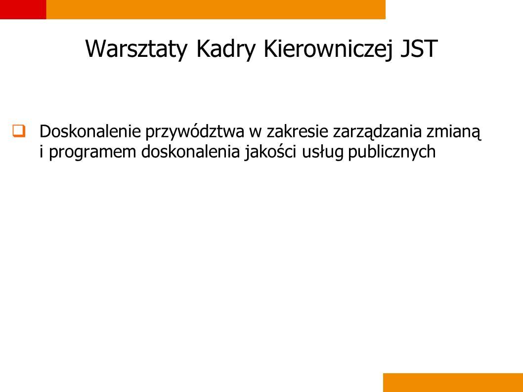 Warsztaty Kadry Kierowniczej JST