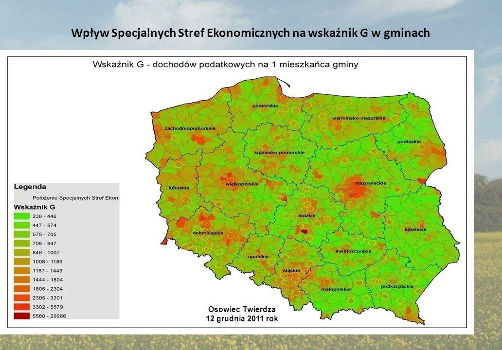 Wpływ Specjalnych Stref Ekonomicznych na wskaźnik G w gminach