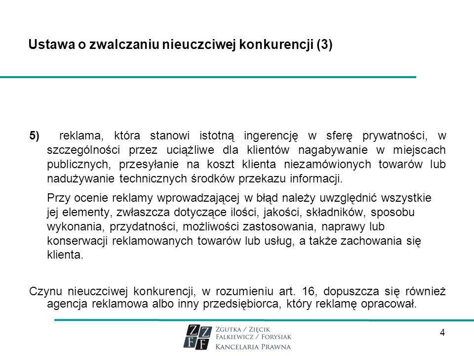 Ustawa o zwalczaniu nieuczciwej konkurencji (3)