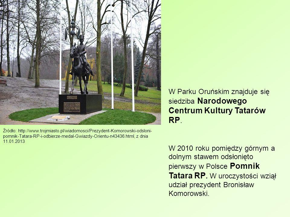 W Parku Oruńskim znajduje się siedziba Narodowego Centrum Kultury Tatarów RP.