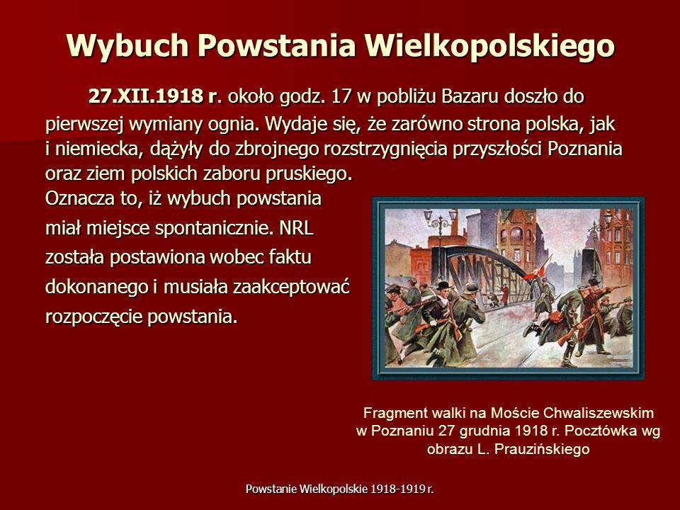 Wybuch Powstania Wielkopolskiego