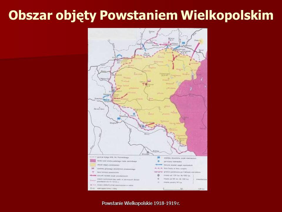 Obszar objęty Powstaniem Wielkopolskim