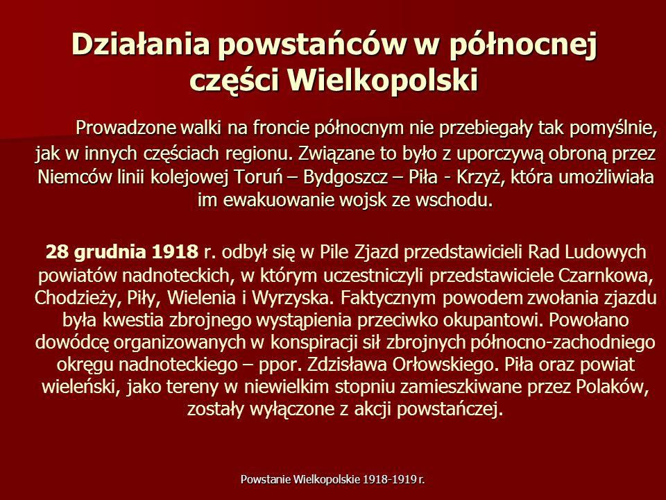 Działania powstańców w północnej części Wielkopolski