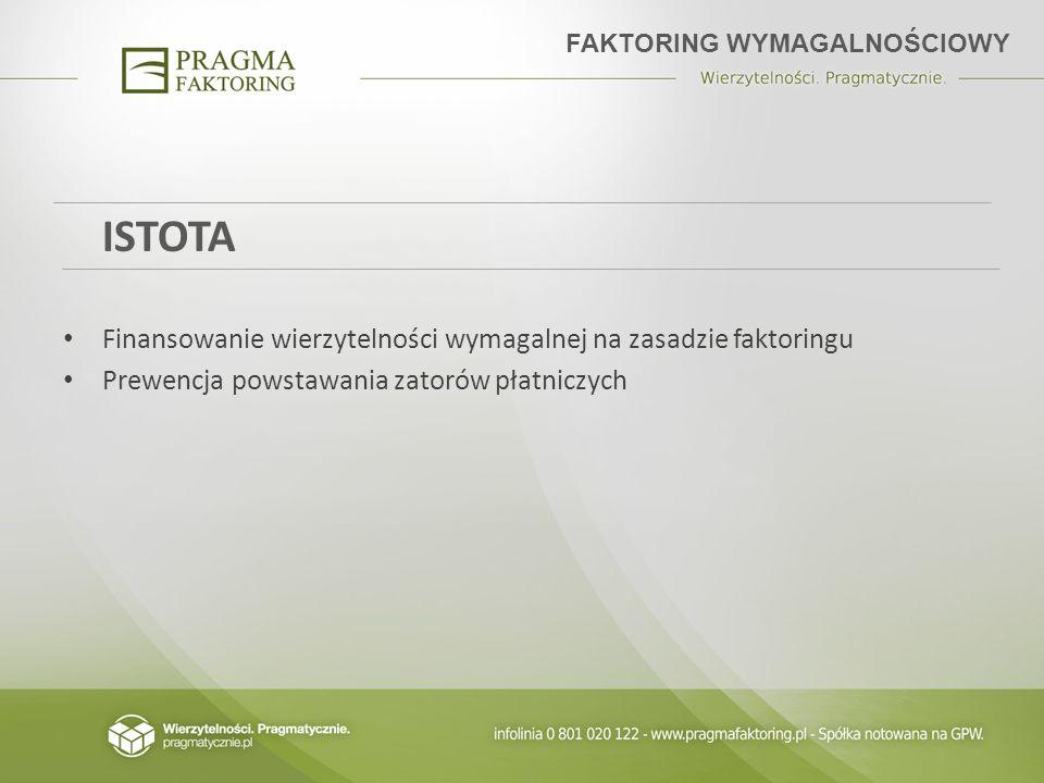 ISTOTA Finansowanie wierzytelności wymagalnej na zasadzie faktoringu