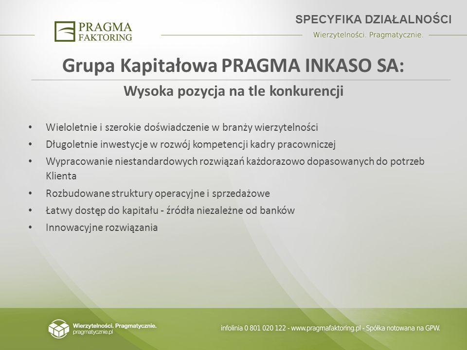 Grupa Kapitałowa PRAGMA INKASO SA: Wysoka pozycja na tle konkurencji