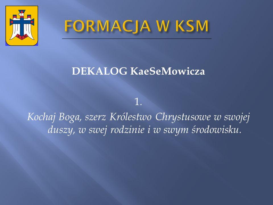 FORMACJA W KSM DEKALOG KaeSeMowicza 1.