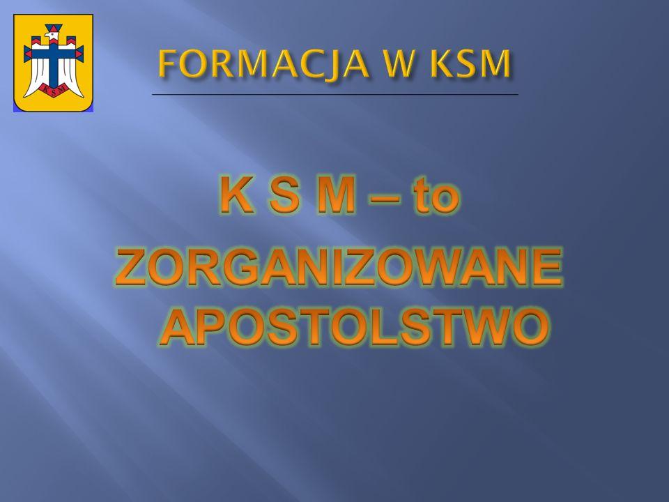 K S M – to ZORGANIZOWANE APOSTOLSTWO