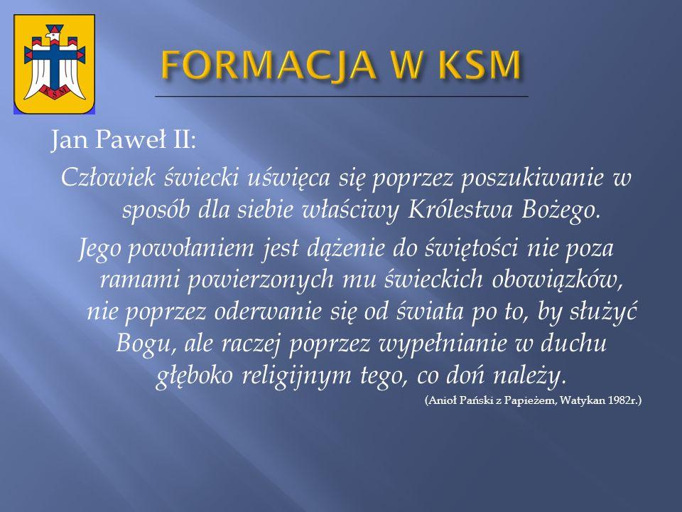 FORMACJA W KSM Jan Paweł II: