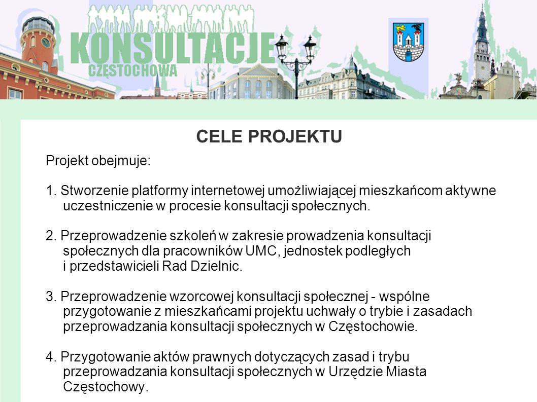 CELE PROJEKTU Projekt obejmuje: