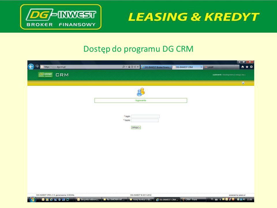 Dostęp do programu DG CRM