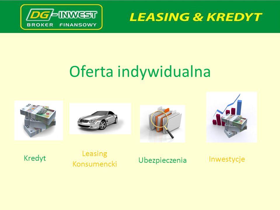 Oferta indywidualna Leasing Konsumencki Kredyt Inwestycje