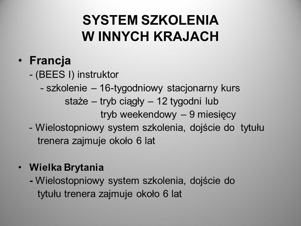 SYSTEM SZKOLENIA W INNYCH KRAJACH