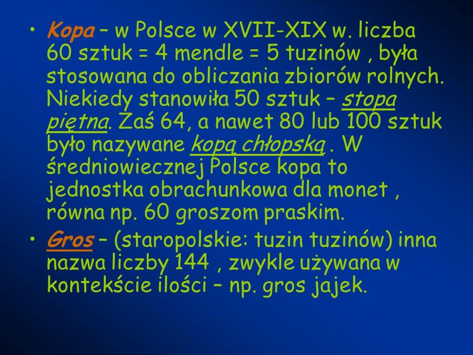 Kopa – w Polsce w XVII-XIX w