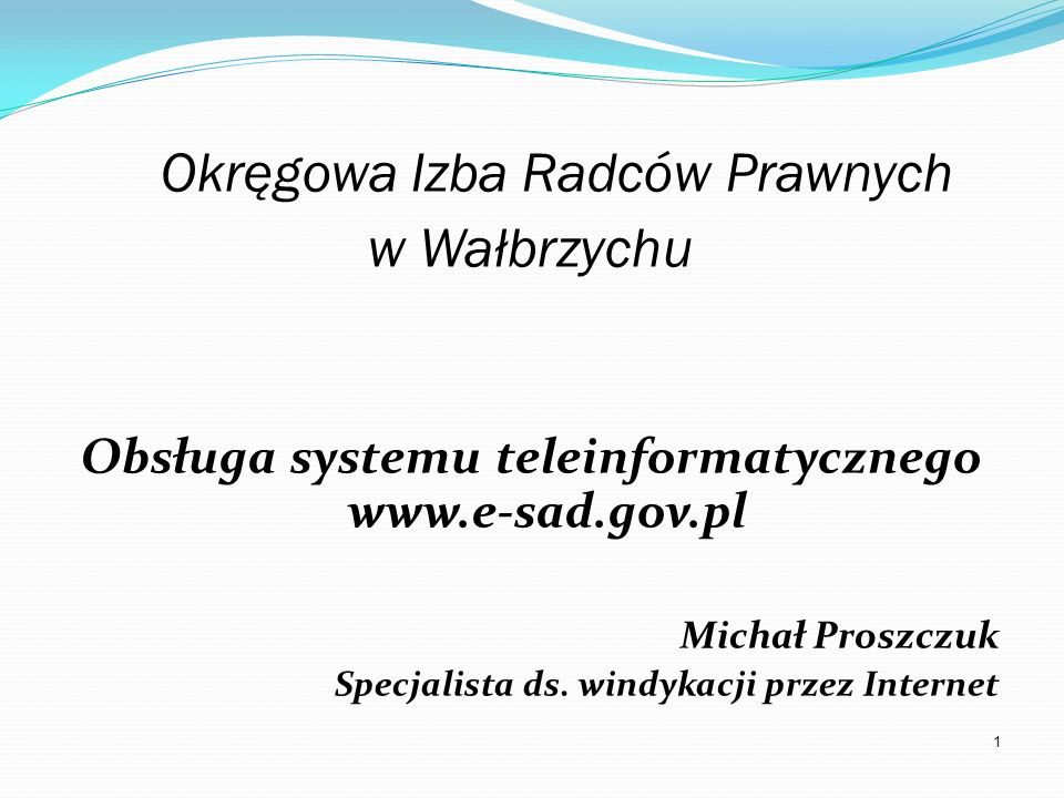 Obsługa systemu teleinformatycznego www.e-sad.gov.pl