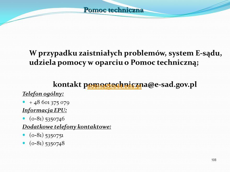 kontakt pomoctechniczna@e-sad.gov.pl