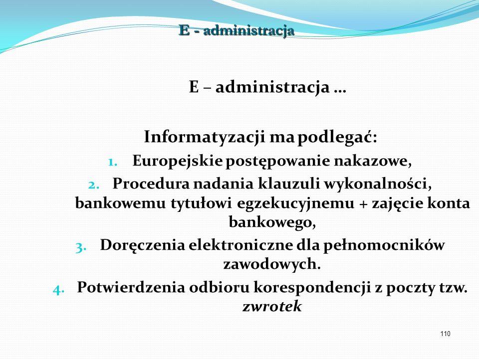 Informatyzacji ma podlegać: