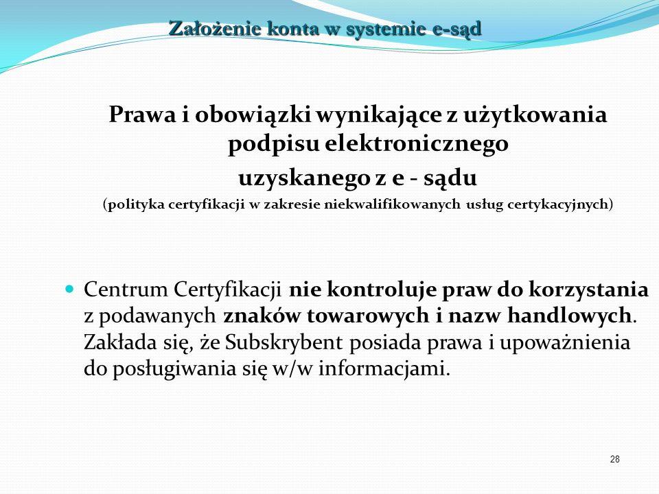 Prawa i obowiązki wynikające z użytkowania podpisu elektronicznego