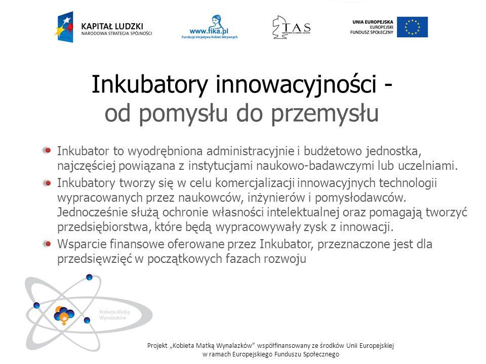 Inkubatory innowacyjności - od pomysłu do przemysłu