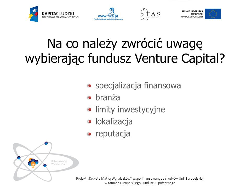 Na co należy zwrócić uwagę wybierając fundusz Venture Capital