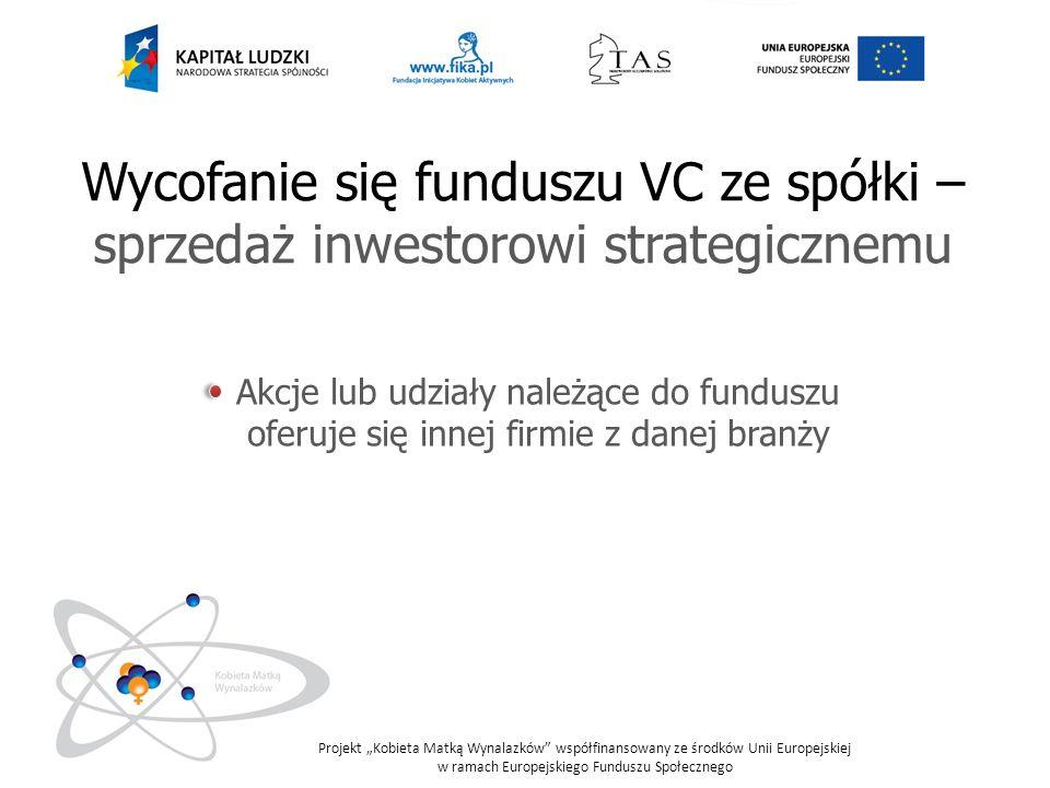 Wycofanie się funduszu VC ze spółki – sprzedaż inwestorowi strategicznemu