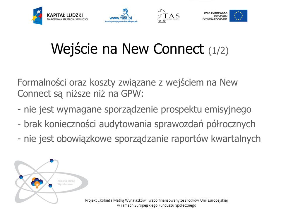 Wejście na New Connect (1/2)