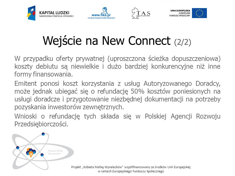 Wejście na New Connect (2/2)