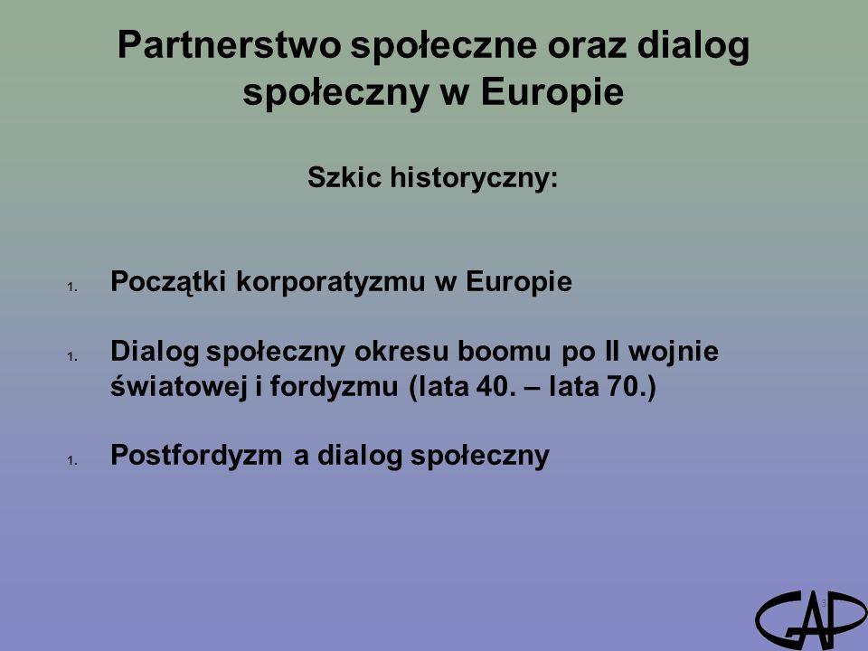 Partnerstwo społeczne oraz dialog społeczny w Europie