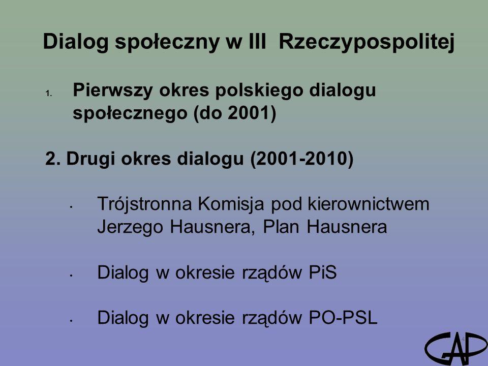 Dialog społeczny w III Rzeczypospolitej