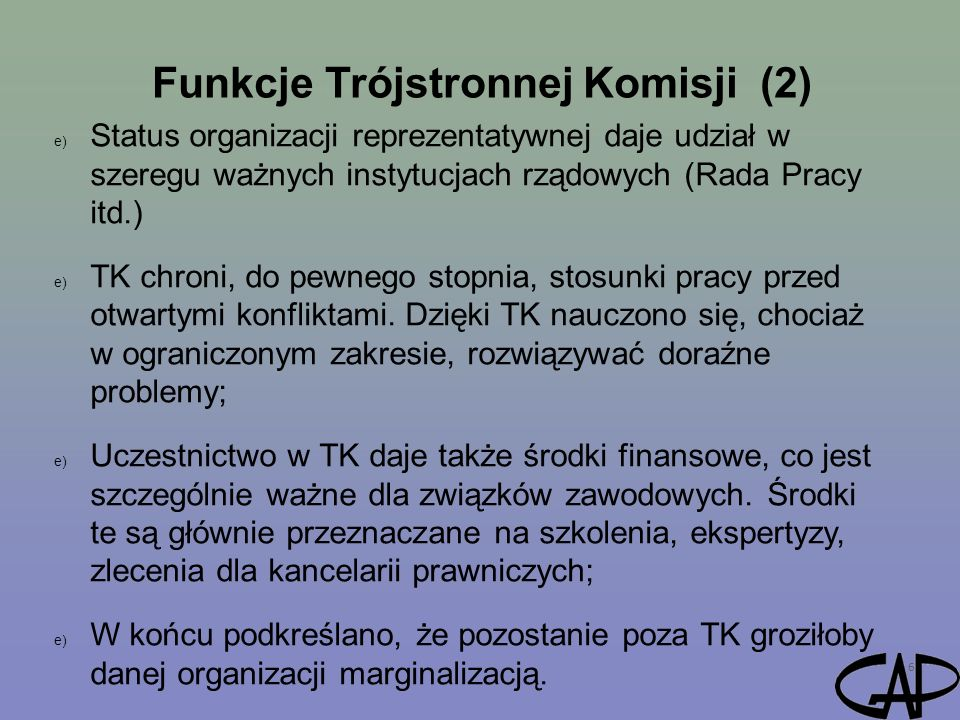 Funkcje Trójstronnej Komisji (2)