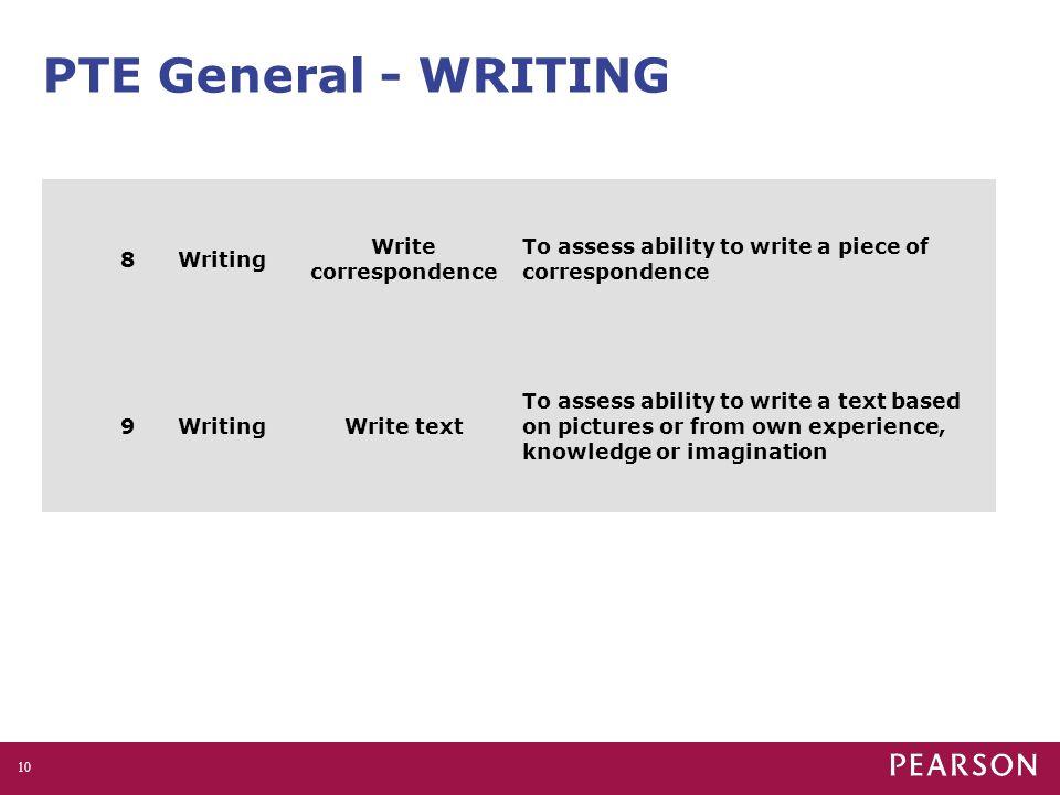 PTE General - WRITING 8 Writing Write correspondence