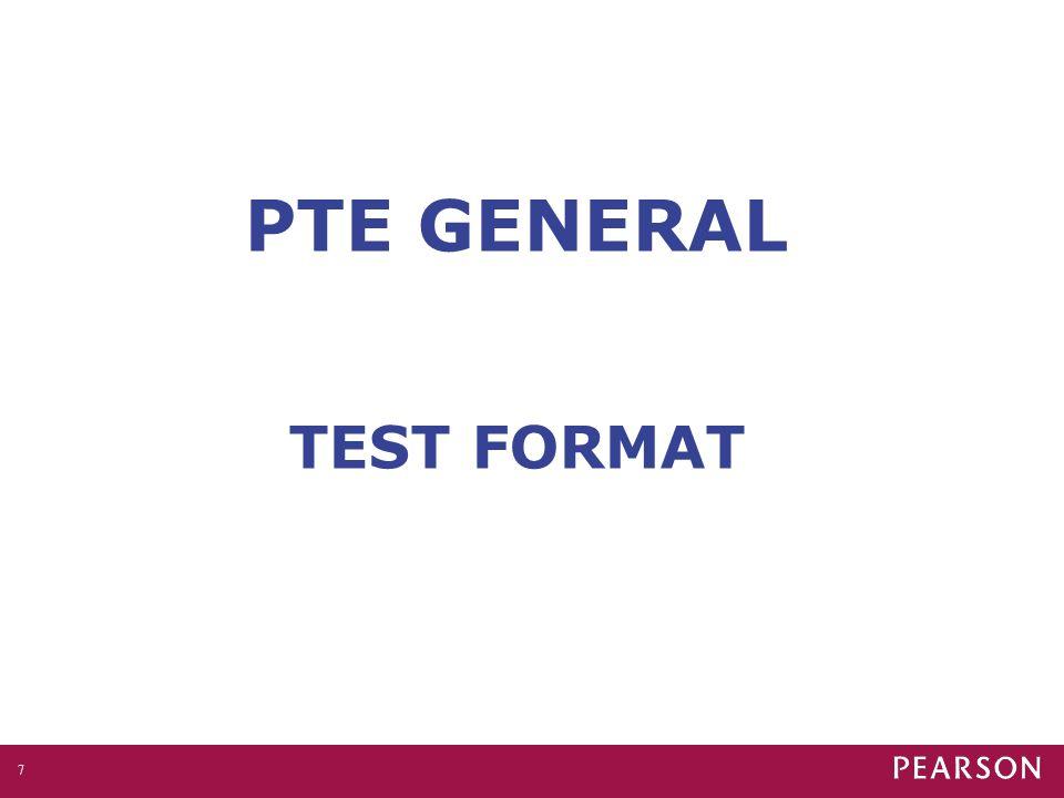 PTE GENERAL TEST FORMAT