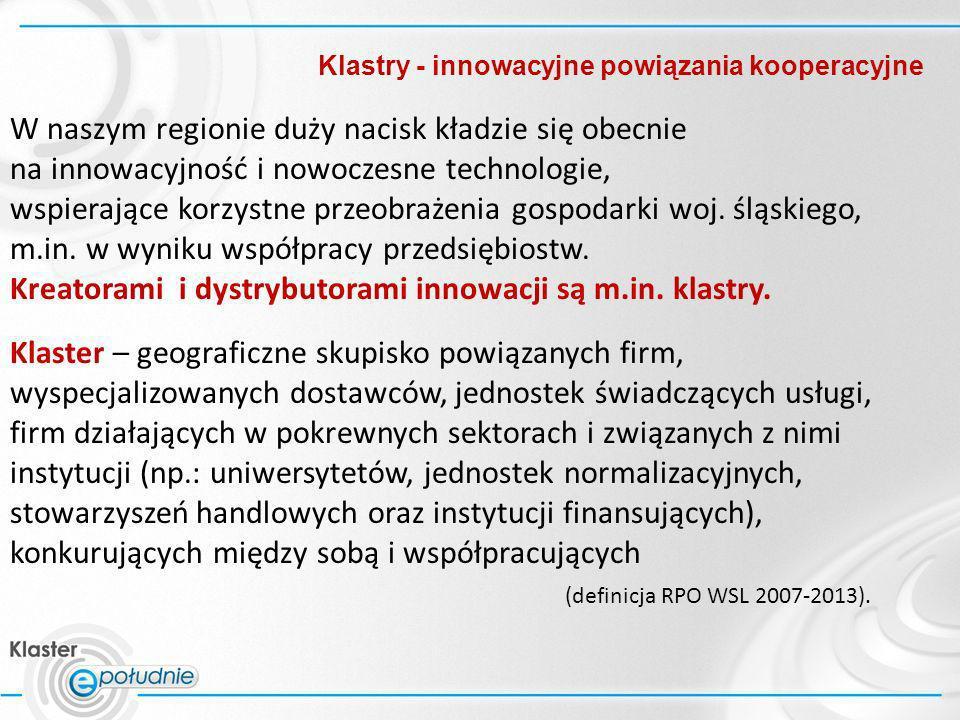 Klastry - innowacyjne powiązania kooperacyjne